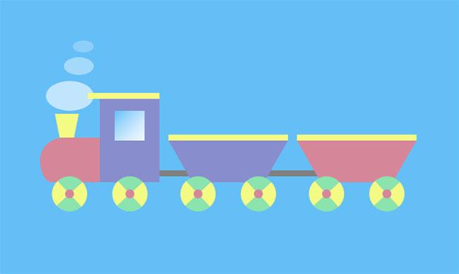 CSS3卡通玩具火车动画特效